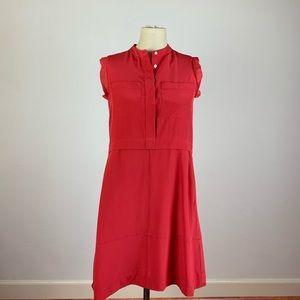 Madewell Red Silk Shift Dress